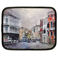 Venice Small Town Watercolor Netbook Case (xl)  by BangZart