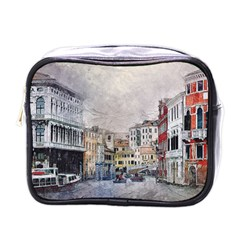 Venice Small Town Watercolor Mini Toiletries Bags by BangZart