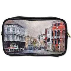 Venice Small Town Watercolor Toiletries Bags 2 Side by BangZart