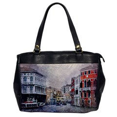 Venice Small Town Watercolor Office Handbags by BangZart