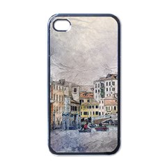 Venice Small Town Watercolor Apple Iphone 4 Case (black)