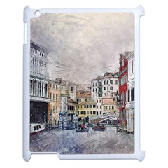 Venice Small Town Watercolor Apple Ipad 2 Case (white) by BangZart