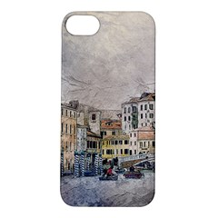 Venice Small Town Watercolor Apple Iphone 5s/ Se Hardshell Case by BangZart