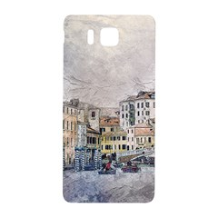 Venice Small Town Watercolor Samsung Galaxy Alpha Hardshell Back Case by BangZart