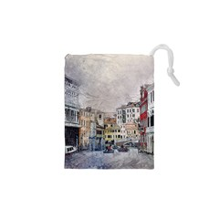 Venice Small Town Watercolor Drawstring Pouches (xs)  by BangZart