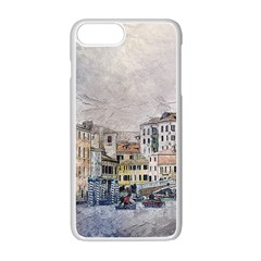 Venice Small Town Watercolor Apple Iphone 7 Plus Seamless Case (white) by BangZart