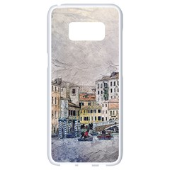 Venice Small Town Watercolor Samsung Galaxy S8 White Seamless Case by BangZart