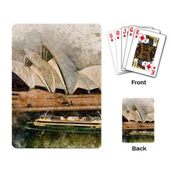 Sydney The Opera House Watercolor Playing Card