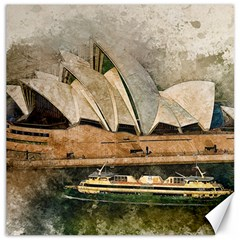Sydney The Opera House Watercolor Canvas 12  X 12