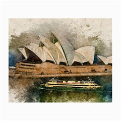 Sydney The Opera House Watercolor Small Glasses Cloth (2 Side)
