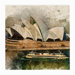 Sydney The Opera House Watercolor Medium Glasses Cloth by BangZart