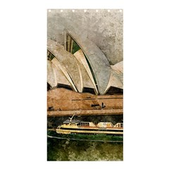 Sydney The Opera House Watercolor Shower Curtain 36  X 72  (stall)