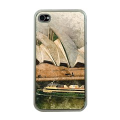 Sydney The Opera House Watercolor Apple Iphone 4 Case (clear) by BangZart