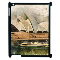 Sydney The Opera House Watercolor Apple Ipad 2 Case (black)