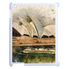 Sydney The Opera House Watercolor Apple Ipad 2 Case (white)