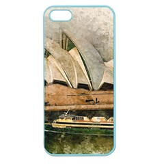 Sydney The Opera House Watercolor Apple Seamless Iphone 5 Case (color) by BangZart
