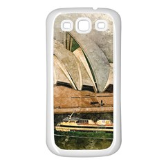 Sydney The Opera House Watercolor Samsung Galaxy S3 Back Case (white)