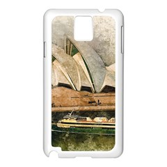 Sydney The Opera House Watercolor Samsung Galaxy Note 3 N9005 Case (white) by BangZart