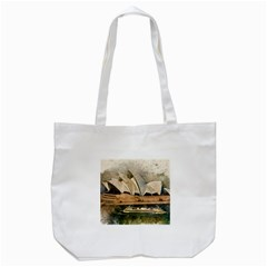 Sydney The Opera House Watercolor Tote Bag (white)