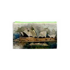 Sydney The Opera House Watercolor Cosmetic Bag (xs) by BangZart