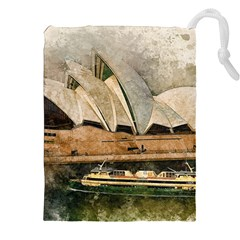 Sydney The Opera House Watercolor Drawstring Pouches (xxl)
