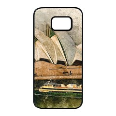 Sydney The Opera House Watercolor Samsung Galaxy S7 Edge Black Seamless Case by BangZart