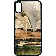 Sydney The Opera House Watercolor Apple Iphone X Seamless Case (black) by BangZart