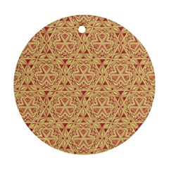 Tribal Pattern Hand Drawing 2 Round Ornament (two Sides) by Cveti