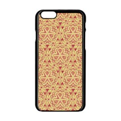 Tribal Pattern Hand Drawing 2 Apple Iphone 6/6s Black Enamel Case by Cveti