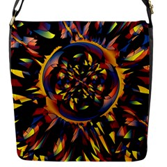 Spiky Abstract Flap Messenger Bag (s) by linceazul