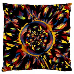Spiky Abstract Large Flano Cushion Case (two Sides) by linceazul