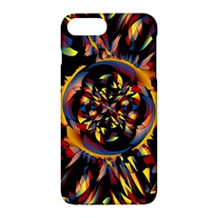 Spiky Abstract Apple Iphone 7 Plus Hardshell Case by linceazul