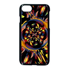 Spiky Abstract Apple Iphone 8 Seamless Case (black) by linceazul