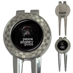 Dawn Of The Planet Of The Pugs Golf Pitchfork & Ball Marker by allthingseveryday