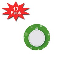 Christmas Bauble Ball 1  Mini Buttons (10 Pack)  by BangZart