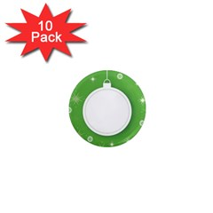 Christmas Bauble Ball 1  Mini Magnet (10 Pack)