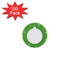 Christmas Bauble Ball 1  Mini Buttons (100 Pack)  by BangZart