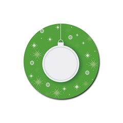 Christmas Bauble Ball Rubber Round Coaster (4 Pack)  by BangZart