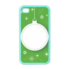 Christmas Bauble Ball Apple Iphone 4 Case (color)