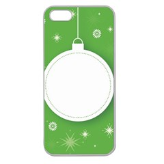 Christmas Bauble Ball Apple Seamless Iphone 5 Case (clear) by BangZart
