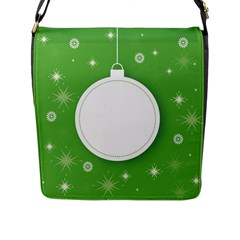 Christmas Bauble Ball Flap Messenger Bag (l)  by BangZart