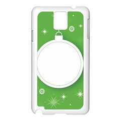 Christmas Bauble Ball Samsung Galaxy Note 3 N9005 Case (white)