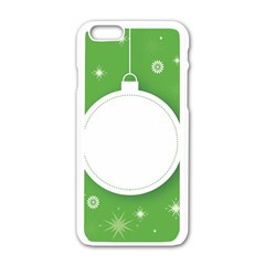 Christmas Bauble Ball Apple Iphone 6/6s White Enamel Case by BangZart