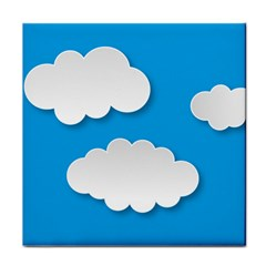 Clouds Sky Background Comic Tile Coasters