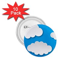 Clouds Sky Background Comic 1 75  Buttons (10 Pack) by BangZart
