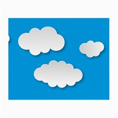 Clouds Sky Background Comic Small Glasses Cloth