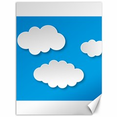 Clouds Sky Background Comic Canvas 36  X 48   by BangZart
