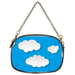 Clouds Sky Background Comic Chain Purses (one Side)