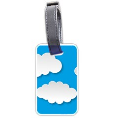Clouds Sky Background Comic Luggage Tags (two Sides) by BangZart
