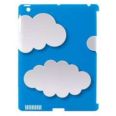 Clouds Sky Background Comic Apple Ipad 3/4 Hardshell Case (compatible With Smart Cover)
